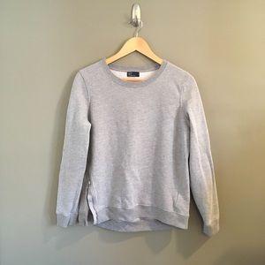 GAP Heather Gray Crew Neck Side ZIP Sweatshirt M